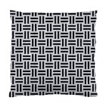 WOVEN1 BLACK MARBLE & SILVER GLITTER Standard Cushion Case (Two Sides) Front