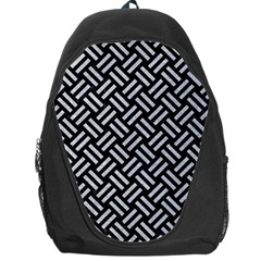 Woven2 Black Marble & Silver Glitter (r) Backpack Bag by trendistuff