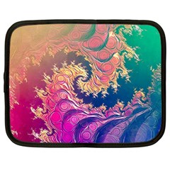 Rainbow Octopus Tentacles In A Fractal Spiral Netbook Case (xl)  by jayaprime