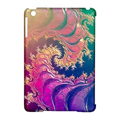 Rainbow Octopus Tentacles In A Fractal Spiral Apple Ipad Mini Hardshell Case (compatible With Smart Cover) by jayaprime