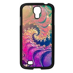 Rainbow Octopus Tentacles In A Fractal Spiral Samsung Galaxy S4 I9500/ I9505 Case (black) by jayaprime