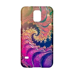 Rainbow Octopus Tentacles In A Fractal Spiral Samsung Galaxy S5 Hardshell Case  by jayaprime