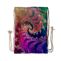 Rainbow Octopus Tentacles In A Fractal Spiral Drawstring Bag (small) by jayaprime