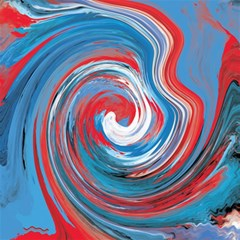 Red And Blue Rounds Canvas 16  X 16   by berwies