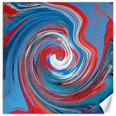 Red And Blue Rounds Canvas 20  X 20   by berwies