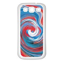 Red And Blue Rounds Samsung Galaxy S3 Back Case (white) by berwies