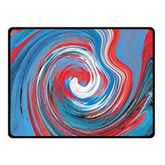Red And Blue Rounds Double Sided Fleece Blanket (small)  by berwies