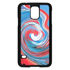 Red And Blue Rounds Samsung Galaxy S5 Case (black) by berwies