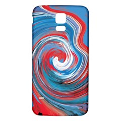 Red And Blue Rounds Samsung Galaxy S5 Back Case (white) by berwies
