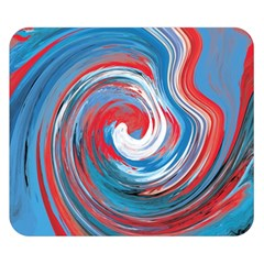 Red And Blue Rounds Double Sided Flano Blanket (small)  by berwies