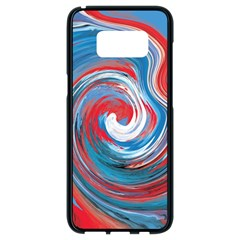 Red And Blue Rounds Samsung Galaxy S8 Black Seamless Case by berwies