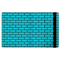 Brick1 Black Marble & Turquoise Colored Pencil Apple Ipad 2 Flip Case by trendistuff