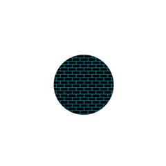 Brick1 Black Marble & Turquoise Colored Pencil (r) 1  Mini Buttons by trendistuff