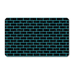 Brick1 Black Marble & Turquoise Colored Pencil (r) Magnet (rectangular) by trendistuff