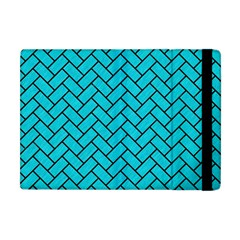 Brick2 Black Marble & Turquoise Colored Pencil Apple Ipad Mini Flip Case by trendistuff