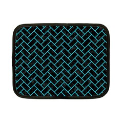 Brick2 Black Marble & Turquoise Colored Pencil (r) Netbook Case (small)  by trendistuff