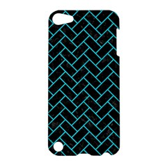 Brick2 Black Marble & Turquoise Colored Pencil (r) Apple Ipod Touch 5 Hardshell Case by trendistuff