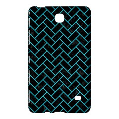 Brick2 Black Marble & Turquoise Colored Pencil (r) Samsung Galaxy Tab 4 (8 ) Hardshell Case  by trendistuff