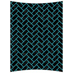 Brick2 Black Marble & Turquoise Colored Pencil (r) Back Support Cushion by trendistuff