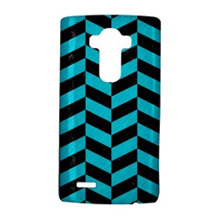 Chevron1 Black Marble & Turquoise Colored Pencil Lg G4 Hardshell Case by trendistuff