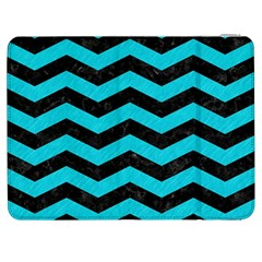 Chevron3 Black Marble & Turquoise Colored Pencil Samsung Galaxy Tab 7  P1000 Flip Case by trendistuff