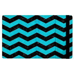 Chevron3 Black Marble & Turquoise Colored Pencil Apple Ipad Pro 9 7   Flip Case by trendistuff