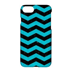 Chevron3 Black Marble & Turquoise Colored Pencil Apple Iphone 7 Hardshell Case by trendistuff
