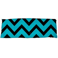 Chevron9 Black Marble & Turquoise Colored Pencil Body Pillow Case Dakimakura (two Sides) by trendistuff