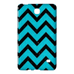 Chevron9 Black Marble & Turquoise Colored Pencil Samsung Galaxy Tab 4 (8 ) Hardshell Case  by trendistuff