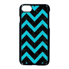 Chevron9 Black Marble & Turquoise Colored Pencil (r) Apple Iphone 8 Seamless Case (black) by trendistuff