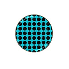 Circles1 Black Marble & Turquoise Colored Pencil Hat Clip Ball Marker (10 Pack) by trendistuff