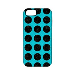 Circles1 Black Marble & Turquoise Colored Pencil Apple Iphone 5 Classic Hardshell Case (pc+silicone) by trendistuff