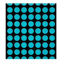 Circles1 Black Marble & Turquoise Colored Pencil (r) Shower Curtain 66  X 72  (large)  by trendistuff