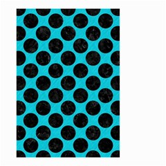 Circles2 Black Marble & Turquoise Colored Pencil Small Garden Flag (two Sides) by trendistuff