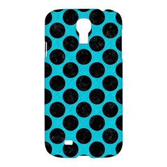 Circles2 Black Marble & Turquoise Colored Pencil Samsung Galaxy S4 I9500/i9505 Hardshell Case by trendistuff