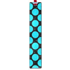 Circles2 Black Marble & Turquoise Colored Pencil (r) Large Book Marks by trendistuff