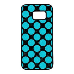 Circles2 Black Marble & Turquoise Colored Pencil (r) Samsung Galaxy S7 Black Seamless Case by trendistuff