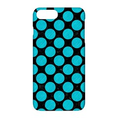 Circles2 Black Marble & Turquoise Colored Pencil (r) Apple Iphone 8 Plus Hardshell Case by trendistuff