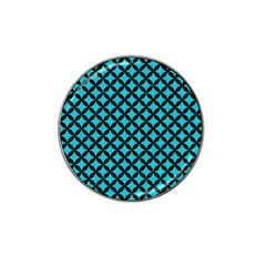 Circles3 Black Marble & Turquoise Colored Pencil Hat Clip Ball Marker (4 Pack) by trendistuff