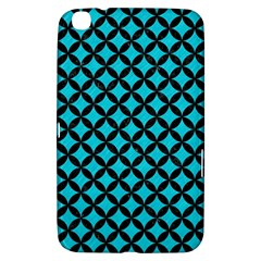 Circles3 Black Marble & Turquoise Colored Pencil Samsung Galaxy Tab 3 (8 ) T3100 Hardshell Case  by trendistuff
