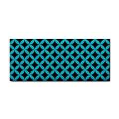 Circles3 Black Marble & Turquoise Colored Pencil (r) Cosmetic Storage Cases by trendistuff