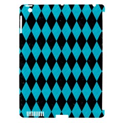 Diamond1 Black Marble & Turquoise Colored Pencil Apple Ipad 3/4 Hardshell Case (compatible With Smart Cover) by trendistuff