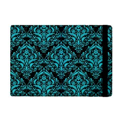 Damask1 Black Marble & Turquoise Colored Pencil (r) Ipad Mini 2 Flip Cases by trendistuff