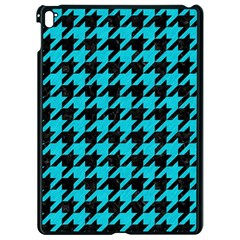Houndstooth1 Black Marble & Turquoise Colored Pencil Apple Ipad Pro 9 7   Black Seamless Case by trendistuff