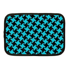 Houndstooth2 Black Marble & Turquoise Colored Pencil Netbook Case (medium)  by trendistuff
