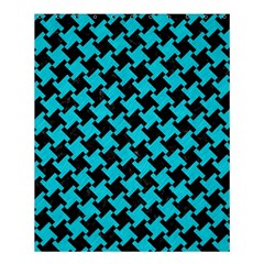 Houndstooth2 Black Marble & Turquoise Colored Pencil Shower Curtain 60  X 72  (medium)  by trendistuff