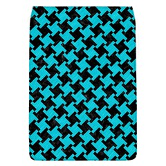 Houndstooth2 Black Marble & Turquoise Colored Pencil Flap Covers (l)  by trendistuff