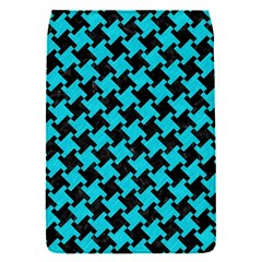Houndstooth2 Black Marble & Turquoise Colored Pencil Flap Covers (s)  by trendistuff