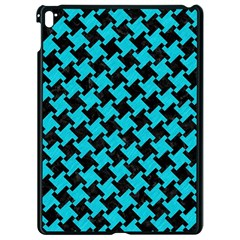 Houndstooth2 Black Marble & Turquoise Colored Pencil Apple Ipad Pro 9 7   Black Seamless Case by trendistuff