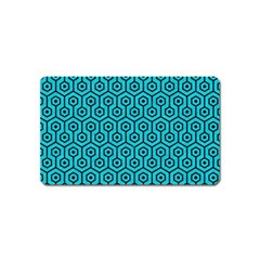 Hexagon1 Black Marble & Turquoise Colored Pencil Magnet (name Card) by trendistuff